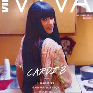 Cardi b Girl ist jeder in 'Atmosphäre viva' Cover-Shooting